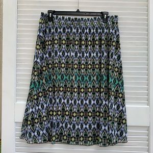 Brown/Green Dress Barn Skirt 2X